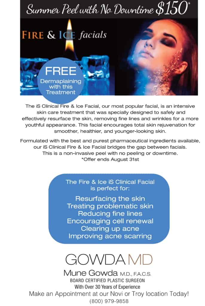 Facial Peel Treatment Special $150 in Novi & Troy, MI